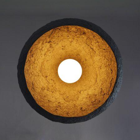 Lámpara colgante Mizuko gris-0