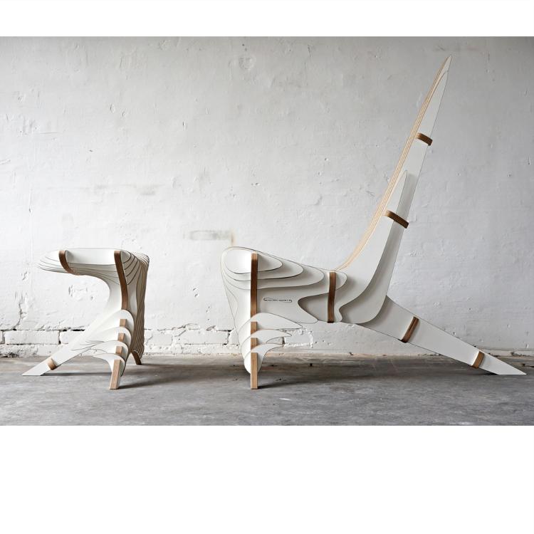 Lounge chair y reposa pies Peak-0