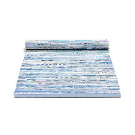 Blue Mix Cotton Rug -0