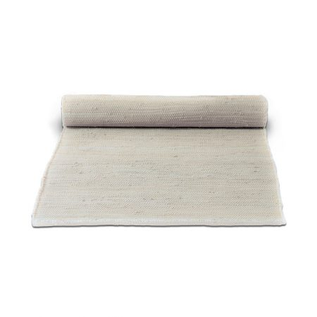 Desert White Cotton Rug -0