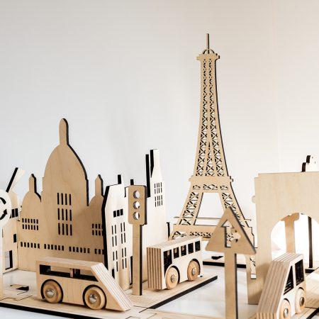 Escultura madera Paris-0