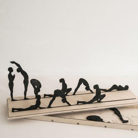Escultura madera Yoga-0
