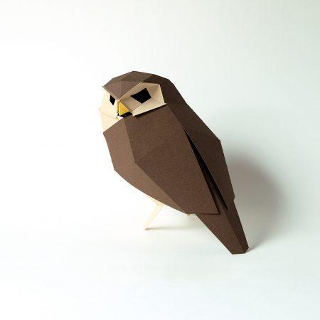 Athene noctua origami-0
