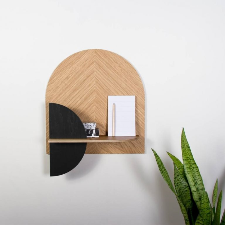 Alba M wall shelf and bedside table-0