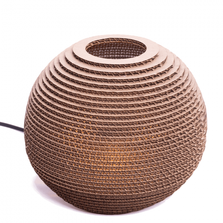 Sphere Table Cardboard Lamp-0