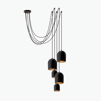 archy-cluster-5-black-eco-friendly-ceiling-lamp-ekohunters-ecodesign-more-circular